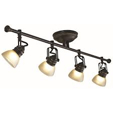 lowes kitchen lights shop allen roth 4 light bronze fixed track light kit at lowes