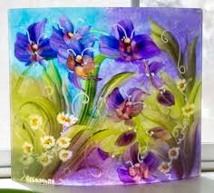 blue and purple orchids blue and purple orchids with white flowers wall sconce floravita