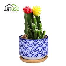 Succulent Planter Aliexpress Com Buy Wituse Flowerpot Wooden Pot Tray Japanese