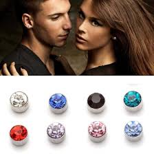 magnetic stud earrings earrings pink picture more detailed picture about 2 pairs 4mm