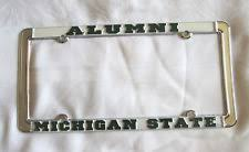 michigan state alumni license plate frame michigan license plate frame ebay