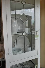Custom Kitchen Cabinet Doors White Leaded Glass Cabinet Sobo Style Window Pane Cabinets