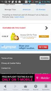 t mobile free inflight wifi gogo in flight texting with wifi enabled phones