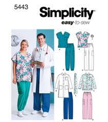 simplicity pattern 5443 women u0027s u0026 men u0027s scrub top xl xxl joann