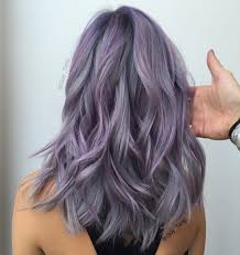 salt and pepper hair with lilac tips prismetallic hair color by guy tang balayage ombre collection