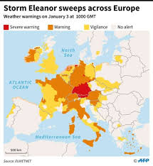 updated map of europe eleanor winter brings chaos to europe world pulse