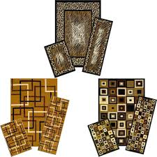 Persian Rug Mouse Mat by Modern Geometric Accent Mat Runner Area Rug 3 Piece Set Leopard