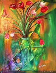 cubism flower painting vas flower cubism 200x120 cm on canvas touchtalent for