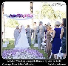 wedding chuppah rental lucite acrylic wedding chuppah canopy rentals by arc de 855