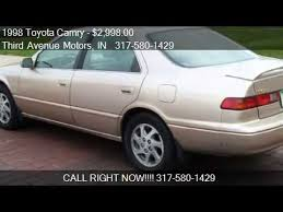 toyota camry xle for sale 1998 toyota camry xle v6 for sale in in 46032