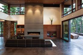 sliding glass doors open both sides option for both side of stone high rise fireplace google search
