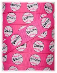 baseball ribbon baseball grosgrain ribbon ribbon baseball ribbon pink