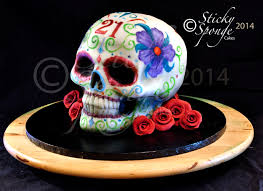 sugar skull cake topper a mexican sugar skull cake for a 21st birthday velvet cake