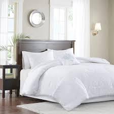 White Bed Set Full Amazon Com Madison Park Mp10 2653 Quebec 5 Piece Comforter Set