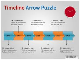 timeline arrow puzzle chart powerpoint templates and backgrounds