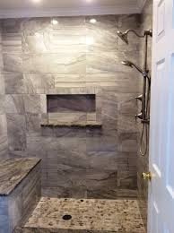 north hills flooring cermaic tile 10x16 terra ege grey on shower