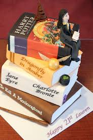 edible print harry potter 4 tier cake book stack with edible print cove flickr