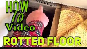 mobile home soft floor repair youtube