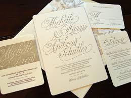 Calligraphy Wedding Invitations Modern Calligraphy Wedding Invitations Chic Ink