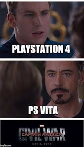 Playstation 4 Meme - marvel civil war 1 meme imgflip