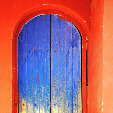 orange walls and blue door in maras salinas sacred va u2026 flickr