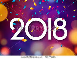 happy new year backdrop happy new year 2018 background decoration stock vector 735775735