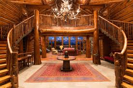 Beautiful Log Home Interiors Kilmain Painting