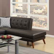 Sectional Leather Sofa Chaise Tufted Couch Sectionals