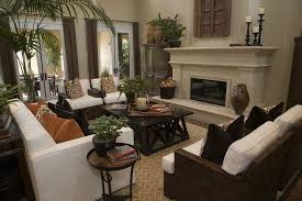 Traditional Living Room Interior Design - traditional living room with high ceiling by home stratosphere
