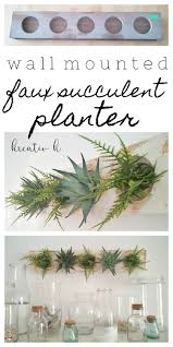Wall Mounted Planter Wall Mounted Faux Succulent Planter Kreativk