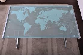 plateau de bureau en verre sérigraphié bureau