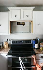 my diy kitchen how i built a rangehood over an existing cabinet