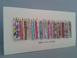 happy 30th birthday candle card with 30 paper candles female on