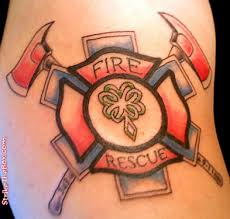 22 unique firefighter cross tattoos