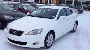 white lexus pre owned white 2009 lexus is 250 rwd calgary youtube