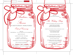 jar wedding programs diy jar wedding program fan template printable design