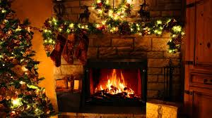 christmas fireplace video decorate ideas interior amazing ideas