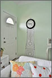 ikea painted clock sparkles of sunshine no money for a grandfather clock check out this affordable option the