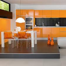 cuisine orange et noir couleur du printemps zoom sur l orange tendances déco déco
