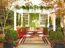 Christmas Outdoor Table Decorations by 4 Stylish Outdoor Decorating Ideas Home Improvement Blog The