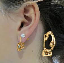 how to convert clip on earrings to pierced earrings evelots 12 gold clip on earring converter turn
