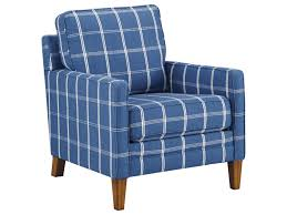 Accent Chair With Arms Benchcraft By Ashley Adderbury Blue Plaid Accent Chair With Track