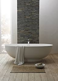 Laminate Flooring With Free Installation Cozy And Serene Bathroom Design Featuring Oval White Free Standing