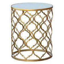 gold metal side table gin shu tables gin shu parisienne round gold metal side table