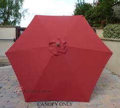 Buy Patio Umbrella by Patio Umbrella Replacement Cover Canopy 6 Ribs Brick