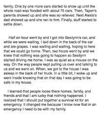 mrs 5th grade class tsunami stories five paragraphs