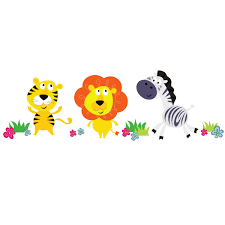 nursery decor and accessories kiddicare stickerscape tiger lion and zebra wall stickers regular size price