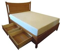 armstrong king size wood storage platform bed