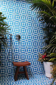 granada tile fez cement tile in blue and white cover this bathroom