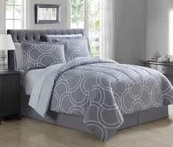 Grey Comforter Sets King 8 Piece Carlisle Gray Comforter Set With Sheets